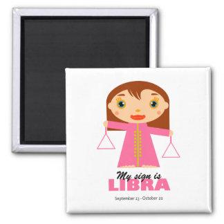 Libra Zodiac for Kids Square Magnet