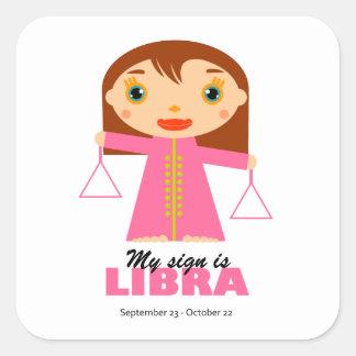 Libra Zodiac for Kids Square Sticker