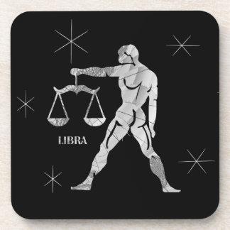 Libra  Zodiac  Man with Scales Celestial Coasters