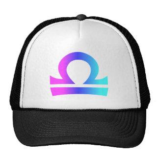 Libra Zodiac Pink Blue Aqua Gradient Cap