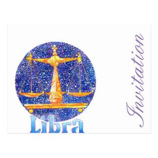 Libra - Zodiac Postcard