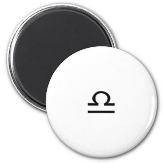 Libra - Zodiac Sign 6 Cm Round Magnet