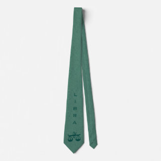 Libra Zodiac Sign and Name Green Tie