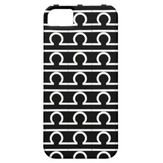 Libra Zodiac Sign B&W iPhone Case iPhone 5 Cases