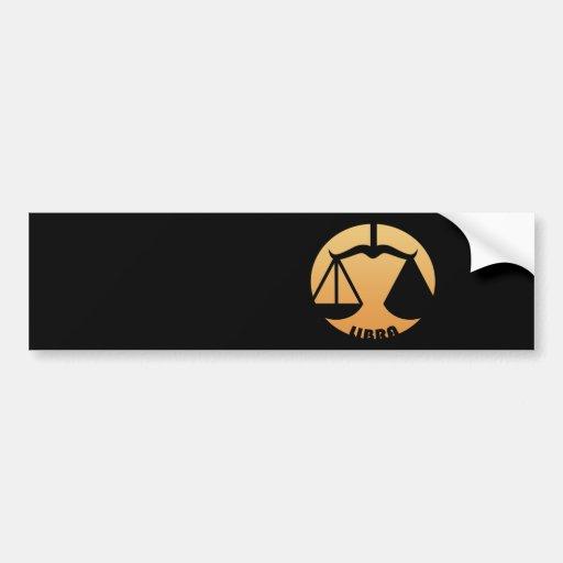 Libra Zodiac Sign Bumper Stickers