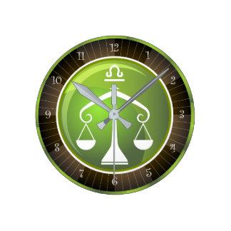 Libra Zodiac Sign Clock