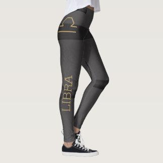 Libra Zodiac Sign | Custom Background + Text Leggings