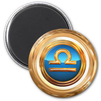 Libra Zodiac Sign 6 Cm Round Magnet