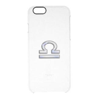 Libra Zodiac Sign on blue digital camo iPhone 6 Plus Case
