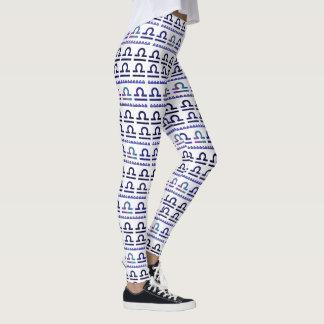 Libra Zodiac Sign Pattern Leggings