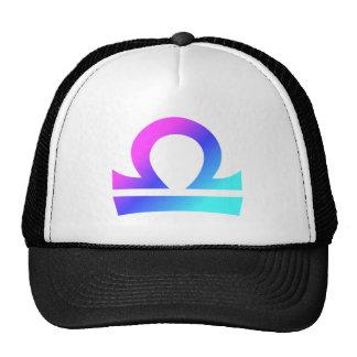 Libra Zodiac Sign Pink Blue Aqua Gradient Trucker Hat
