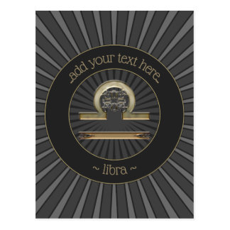Libra Zodiac Sign Postcard