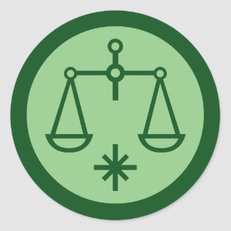 Libra Zodiac Sign Round Sticker