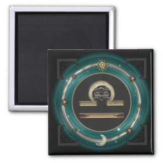 Libra Zodiac Sign Square Magnet