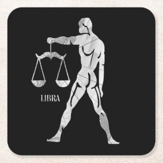 Libra Zodiac Square Paper Coaster
