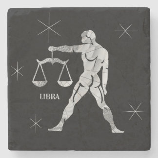 Libra Zodiac Stone Coaster