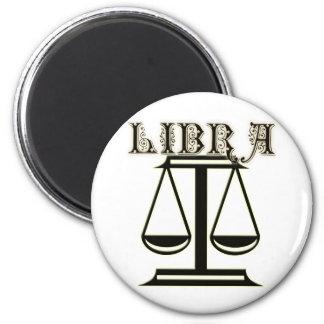 Libra Zodiac Symbol 6 Cm Round Magnet