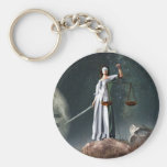 Libra Zodiac Symbol Basic Round Button Key Ring