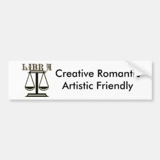 Libra Zodiac Symbol Bumper Sticker