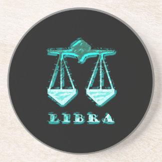 Libra Zodiac Symbol Coasters