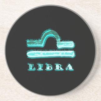 Libra Zodiac Symbol Drink Coaster