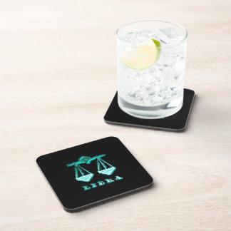 Libra Zodiac Symbol Drink Coasters