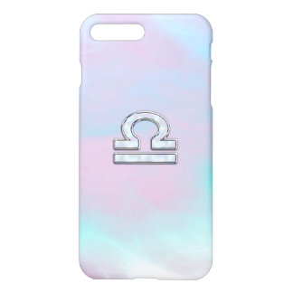 Libra Zodiac Symbol Mother of Pearl Style iPhone 7 Plus Case