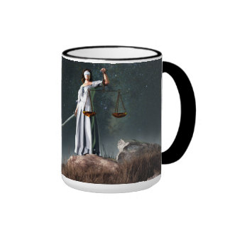 Libra Zodiac Symbol Ringer Mug