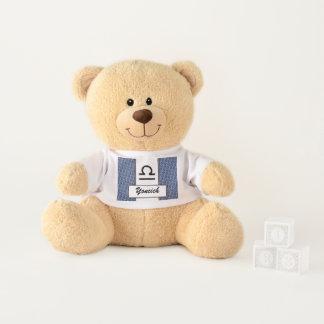 Libra Zodiac Symbol Standard by Kenneth Yoncich Teddy Bear