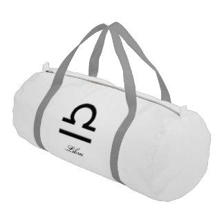 Libra Zodiac Symbol Standard Gym Duffel Bag