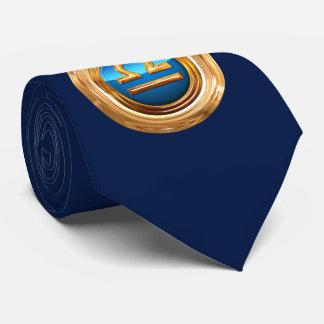 Libra Zodiac Symbol Tie