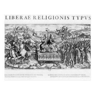 Librae Religionis Typus', allegory Postcard