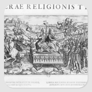 Librae Religionis Typus', allegory Square Sticker