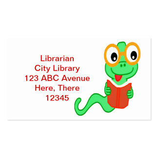 Librarian Bookworm Business Card