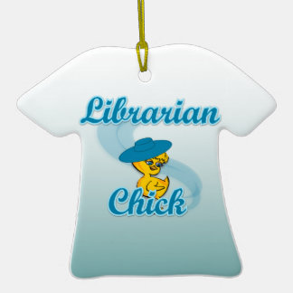 Librarian Chick #3 Christmas Ornaments