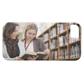 Librarian helping student with research in case for the iPhone 5