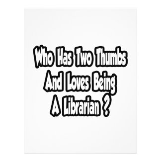 Librarian Joke Two Thumbs Flyer Design