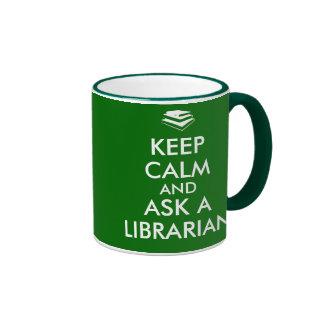 Librarian Mug Keep Calm Ask a Librarian Books