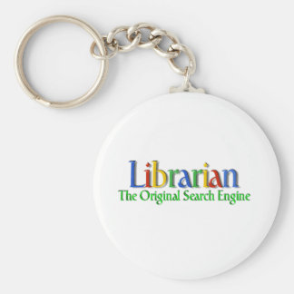 Librarian Original Search Engine Basic Round Button Key Ring