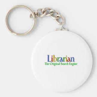 Librarian Original Search Engine Basic Round Button Key Ring