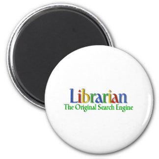 Librarian Original Search Engine 6 Cm Round Magnet