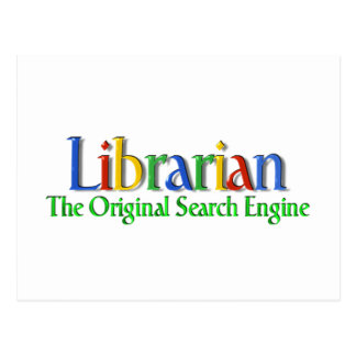 Librarian Original Search Engine Postcard