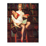 Librarian Pin Up Post Cards