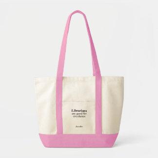 Librarian Tote Bag Personalized Circulation Pun