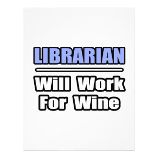 Librarian Will Work For Wine Flyer Design