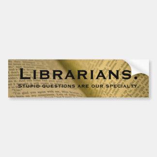 Librarians Bumper Sticker
