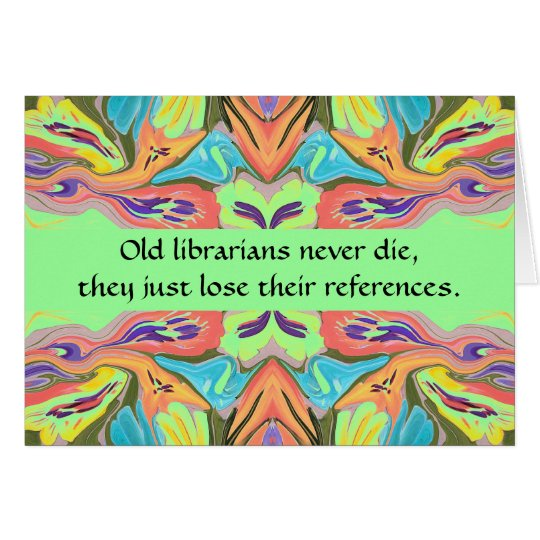 librarians humour card