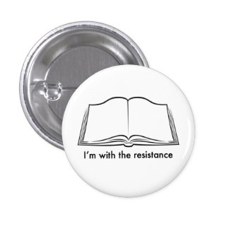 Librarians lead the resistance 3 cm round badge