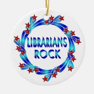 Librarians Rock Christmas Ornament