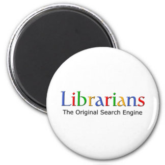 Librarians - The Original Search Engine 6 Cm Round Magnet